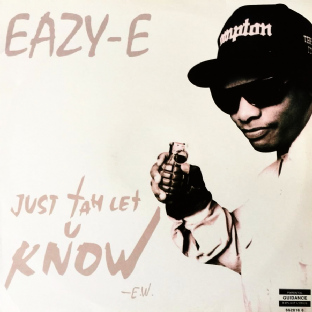"Eazy-E - Just Tah Let U Know (12"") (VG/VG)"